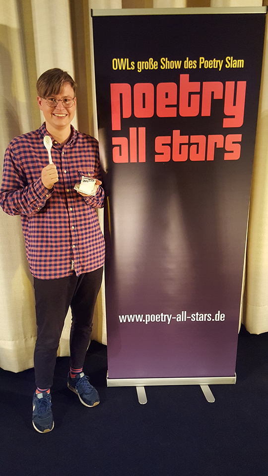 Florian Wintels , Gewinner der Poetry All Stars 22